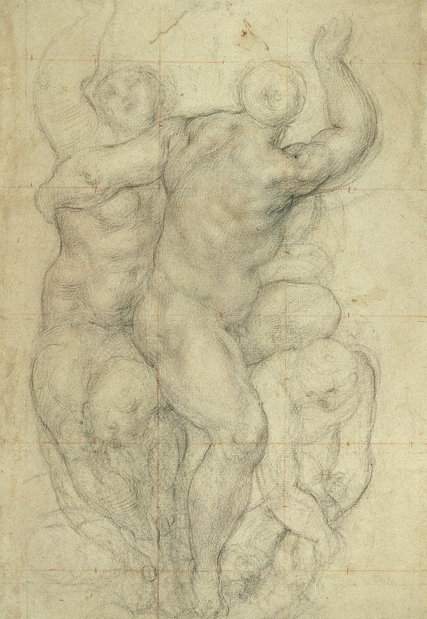 Drawing Drawing - Study For A Group Of Nudes by Jacopo Pontormo
