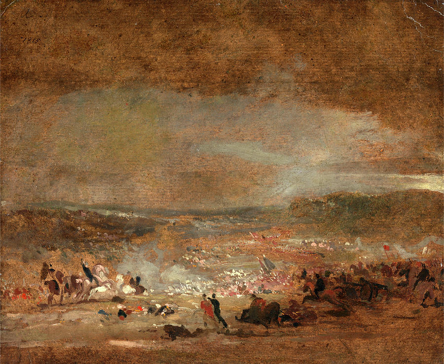 Painter Painting - Study For Battle Of Waterloo Study For Battle Of Waterloo by Litz Collection