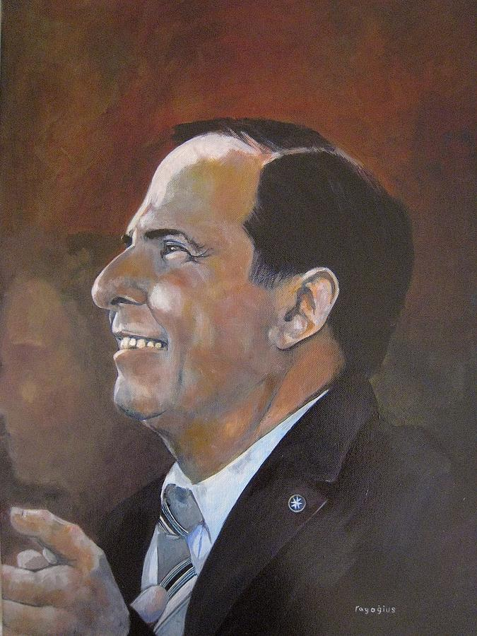 President Painting - Study For Dr.abela by Ray Agius