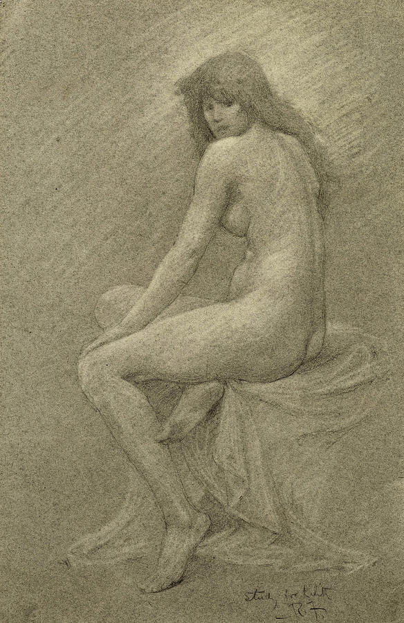 Study Drawing - Study For Lilith by Robert Fowler