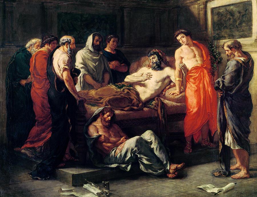 Marcus Aurelius Painting - Study For The Death Of Marcus Aurelius by Ferdinand Victor Eugene Delacroix