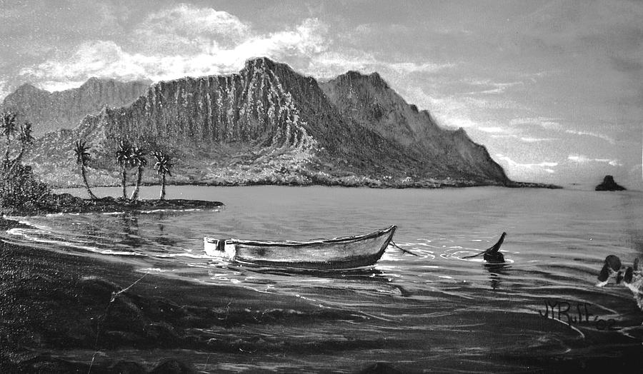 Study- Kaneohe Bay Early Morn 1 Painting by Joseph   Ruff
