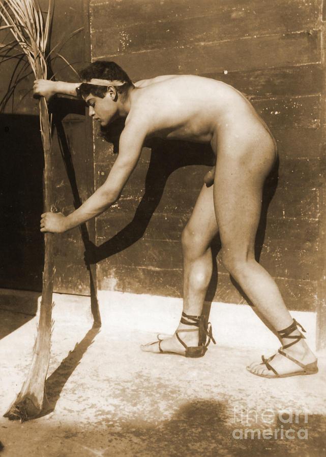 Study Of A Boy Photograph By Wilhelm Von Gloeden
