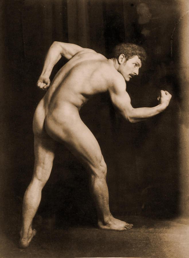 Gloeden Photograph - Study Of A Male Nude by Wilhelm von Gloeden