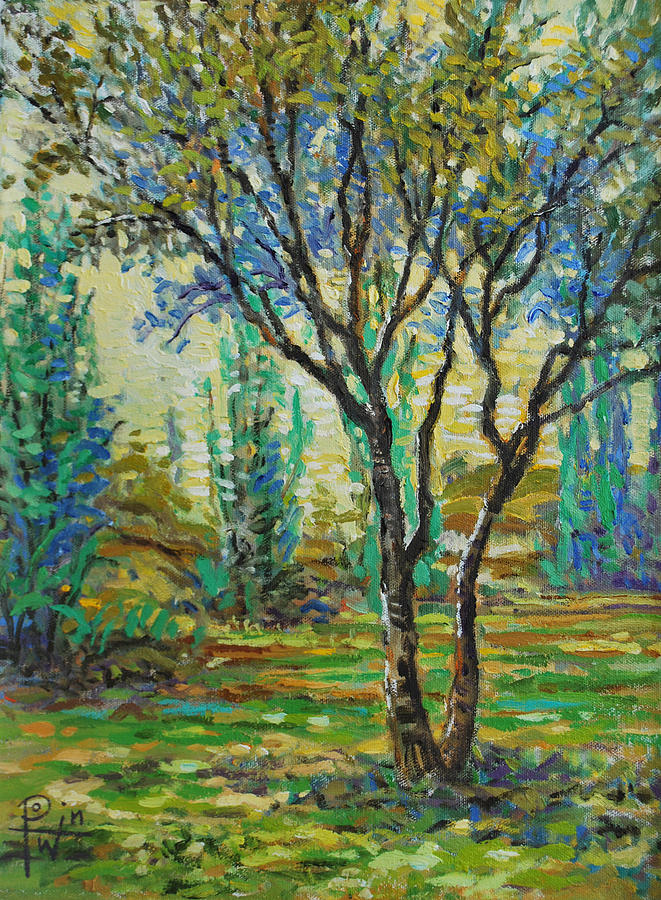 Tree Painting - Study Of A Tree by Henry David Potwin
