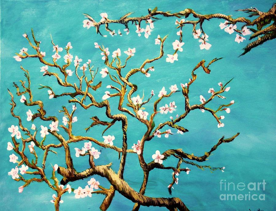 Study of Almond Branches by Van Gogh by Donna Dixon
