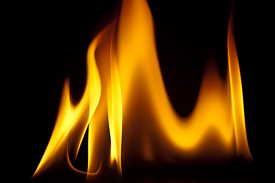 Fire Photograph - Study Of Flames I by Patrick Boening