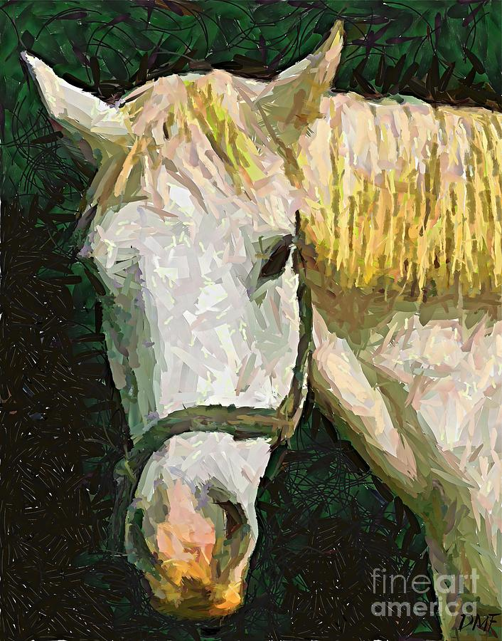 Rhone River Painting - Study Of The Horses Head by Dragica  Micki Fortuna