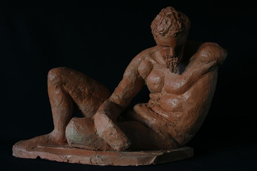 Classical Sculpture Sculpture - Study Of The River God by Flow Fitzgerald