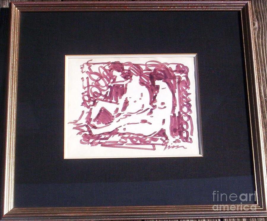 New York Artist Painting - Study Of Three Nudes In Brown by Andre Gisson