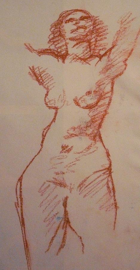 Sanguine Pastel - Study Sanguine by Michelle Deyna-Hayward