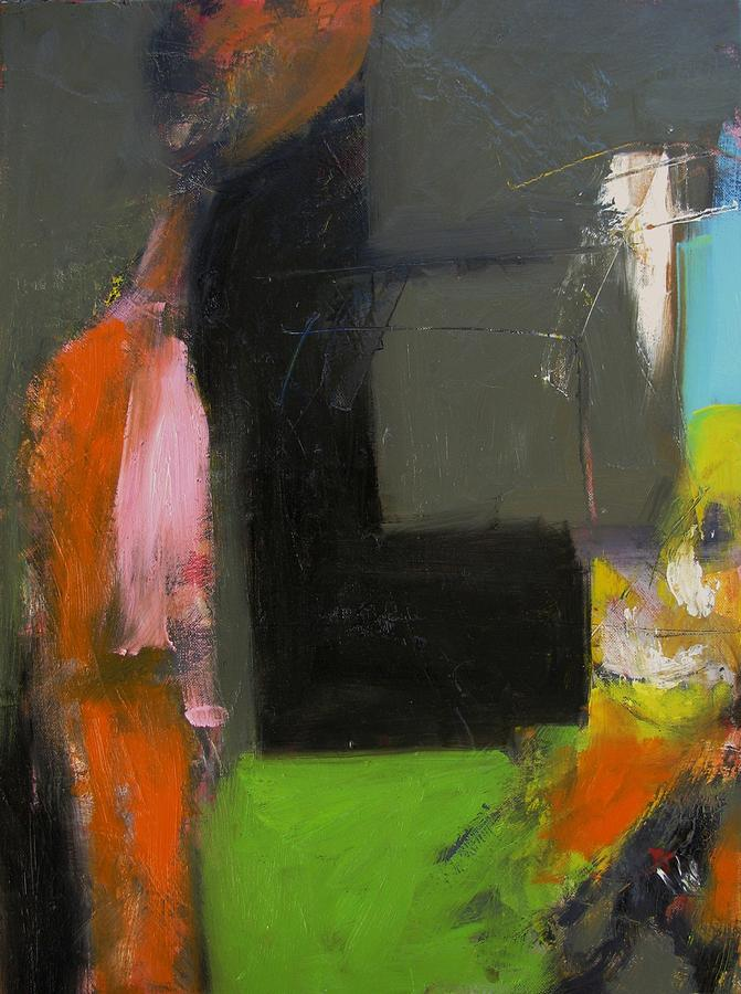 Abstract Painting - Study- Two Figures by Fred Smilde