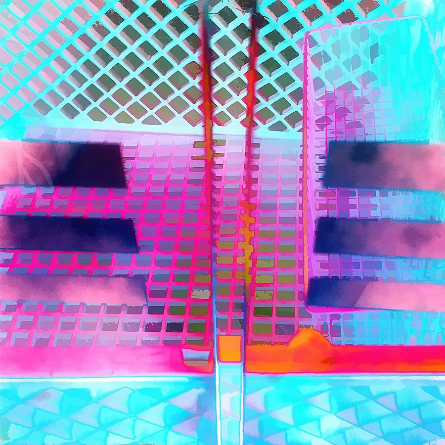 Shopping Cart Photograph - Studying Grid Patterns by Ole Klintebaek