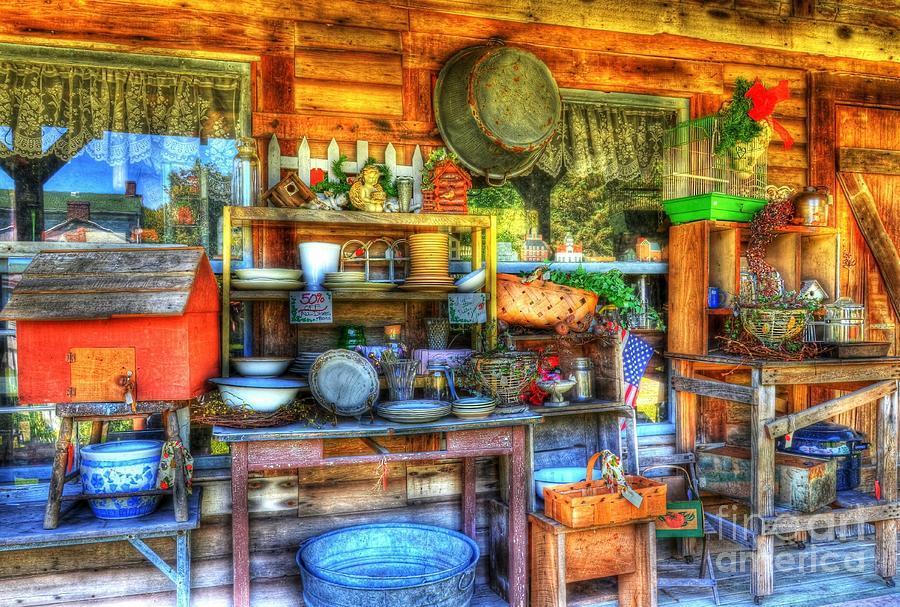 Metamora Indiana Photograph - Stuff For Sale by Mel Steinhauer