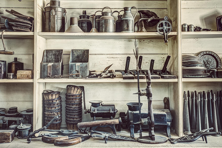 19th Century Photograph - Stuff For Sale - Old General Store by Gary Heller