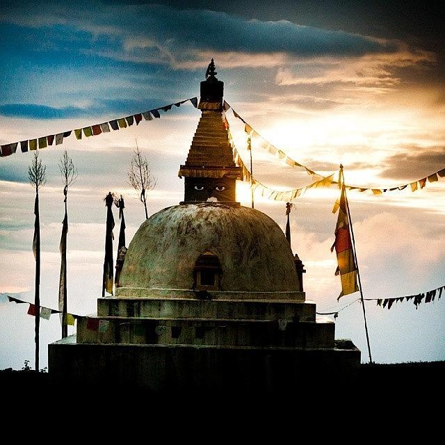 Beautiful Photograph - Stupa Himalayas by Raimond Klavins