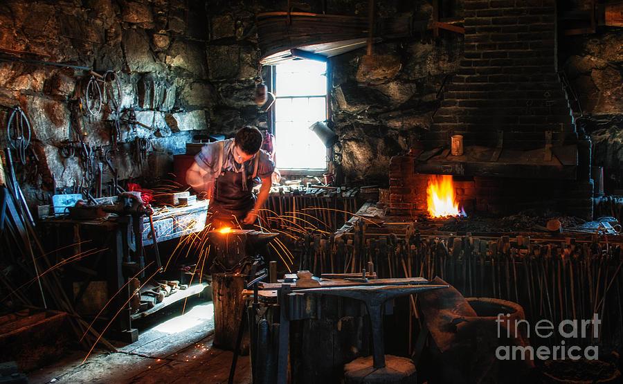 Sturbridge Village Blacksmith Photograph - Sturbridge Village Blacksmith by Scott Thorp