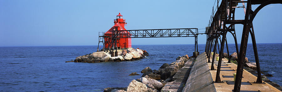 Horizontal Photograph - Sturgeon Bay Canal North Pierhead by Panoramic Images