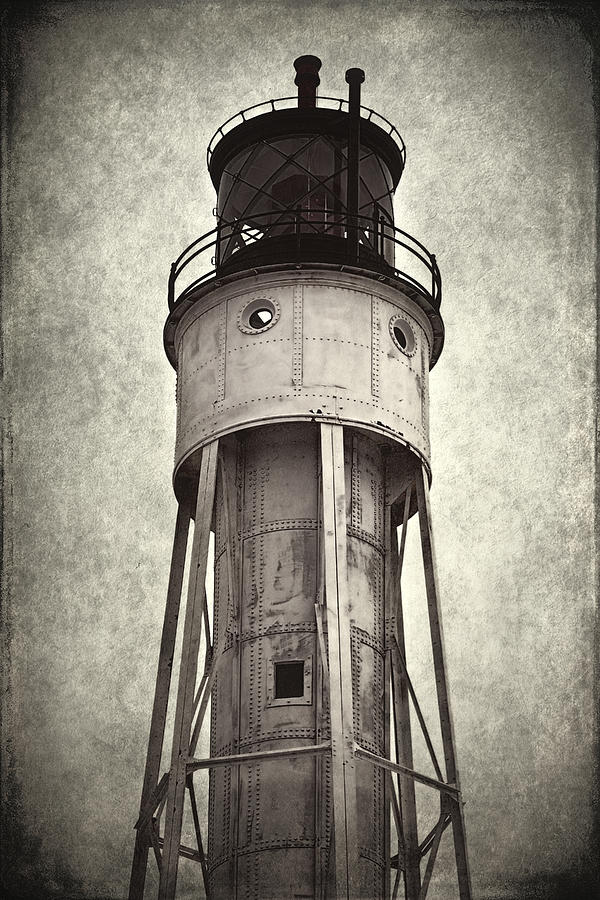 Historic Photograph - Sturgeon Bay Ship Canal Lighthouse II by Joan Carroll