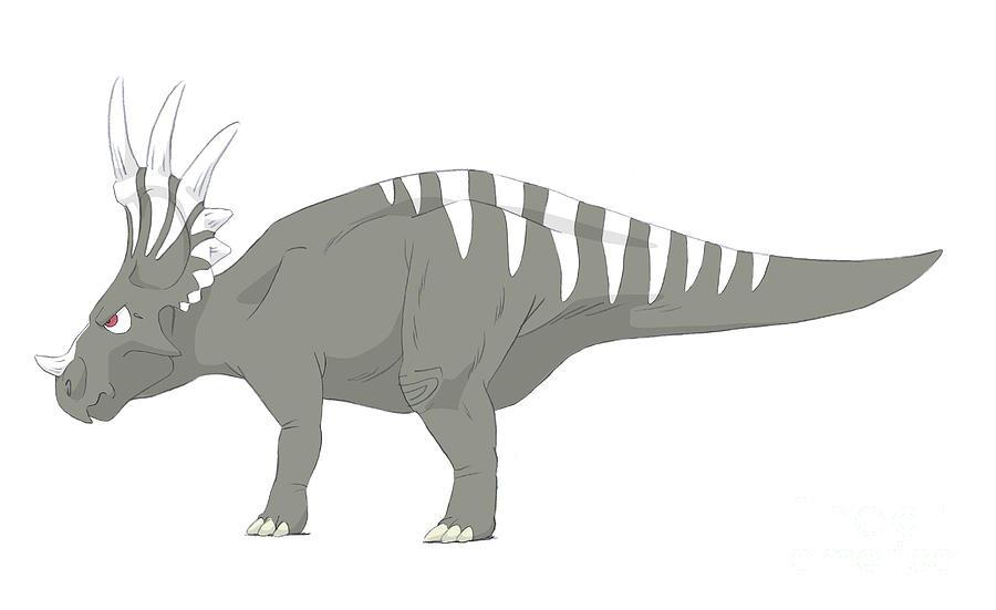 Styracosaurus Pencil Drawing Digital Art