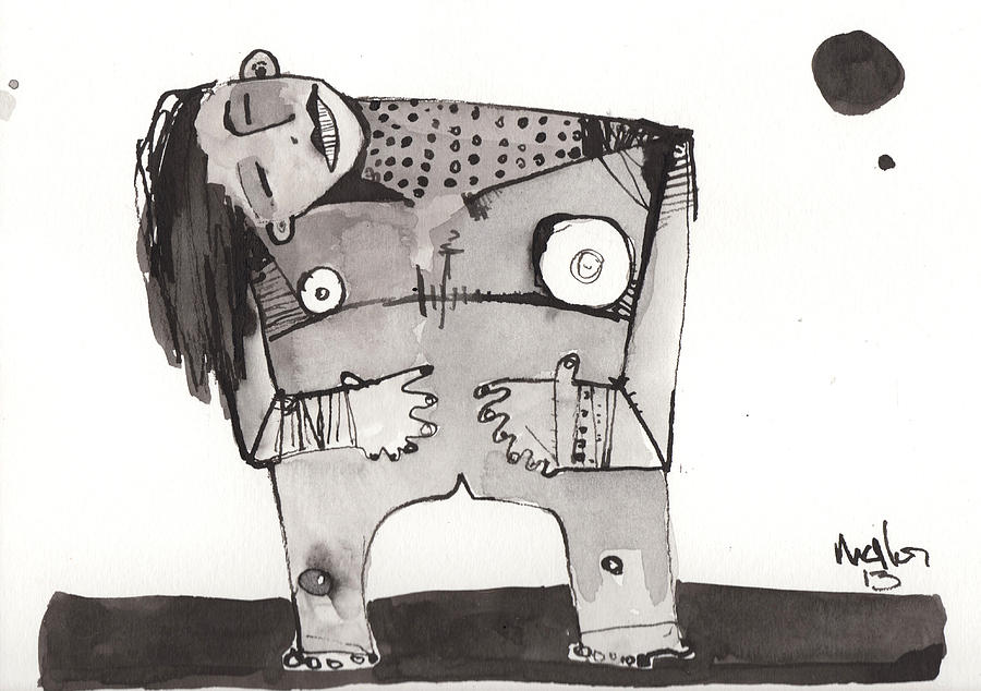 Drawing Drawing - Sub Lunam No. 2 by Mark M  Mellon