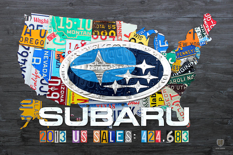 Subaru License Plate Map Sales Celebration Limited Edition - Us liscense plate map