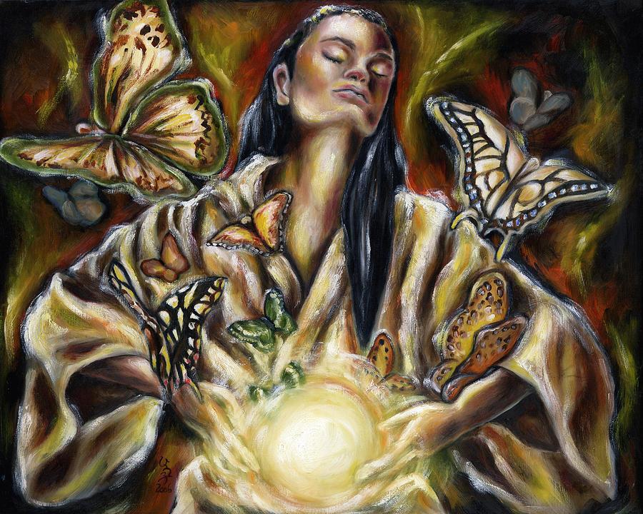 Asian Woman Painting - Sublimation by Hiroko Sakai