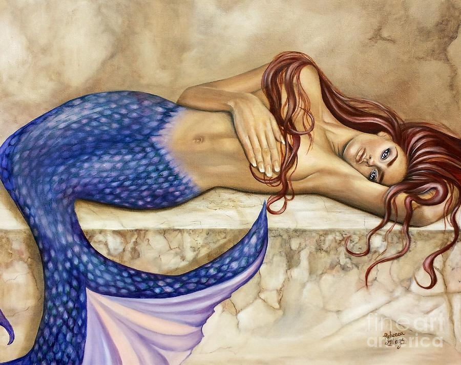 Mermaid Painting - Sublime by Rebecca Glaze