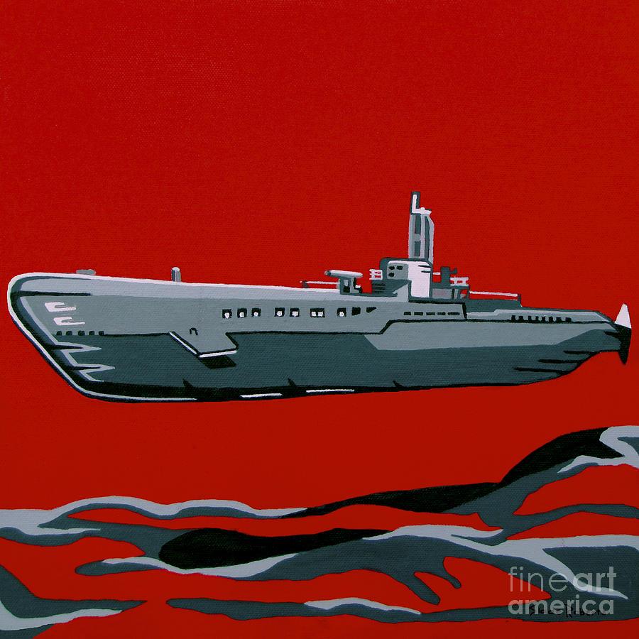 Submarine Painting - Submarine Sandwhich by Slade Roberts