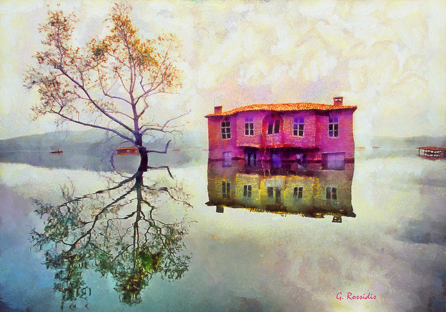 Rossidis Painting - Submerged Reflections by George Rossidis