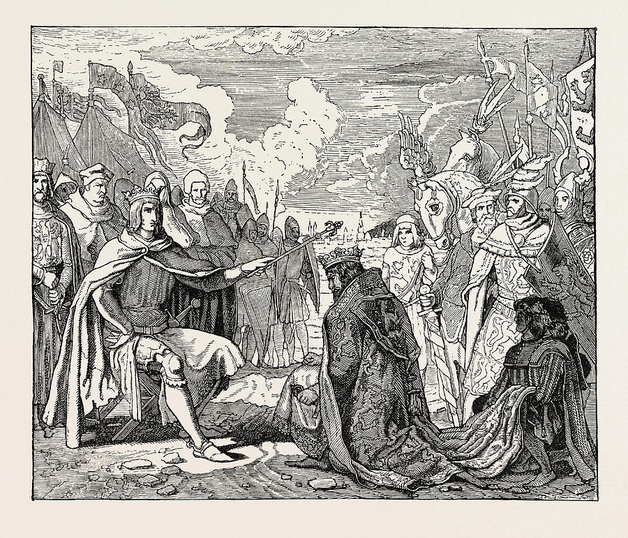 Submission Drawing - Submission Of Ottokar To Rudolf Of Habsburg by English School