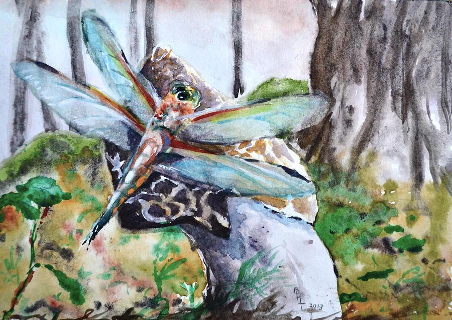 Stinkhorn Painting - Subtle Shimmer by Beverley Harper Tinsley