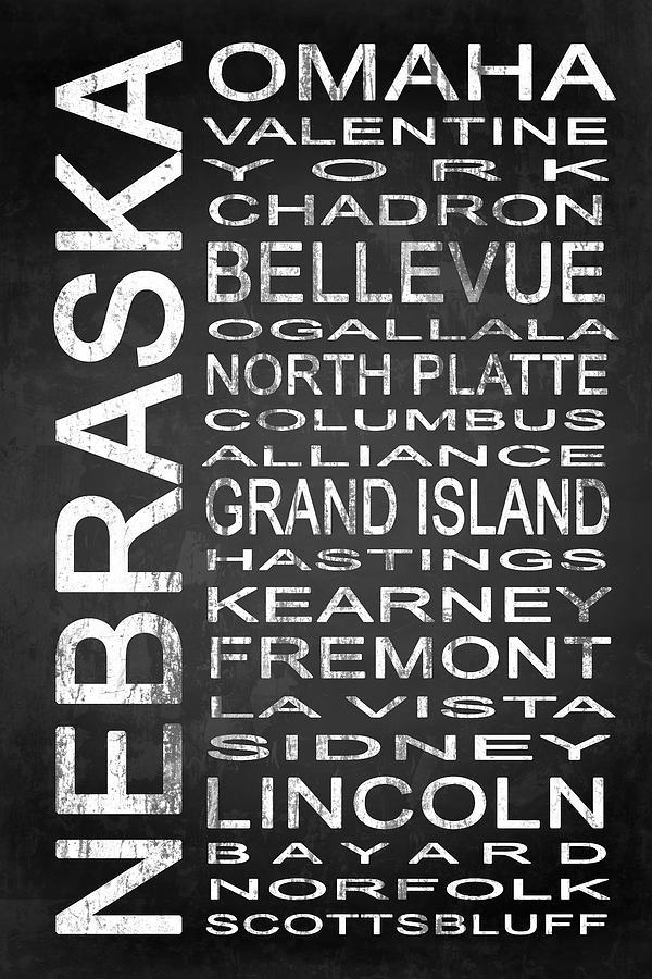 Subway Sign Digital Art - Subway Nebraska State 1 by Melissa Smith
