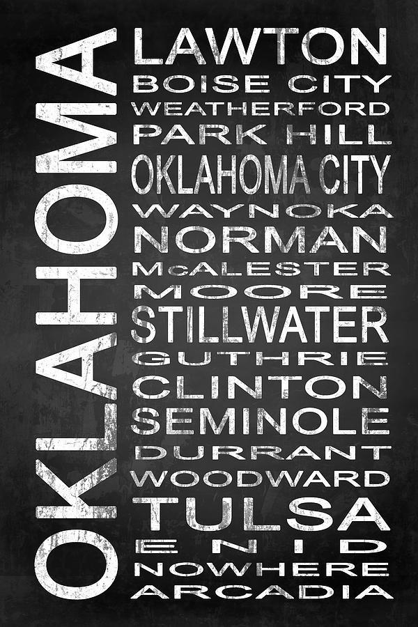 Subway Sign Digital Art - Subway Oklahoma State 1 by Melissa Smith