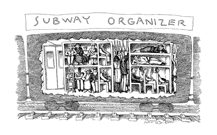 Subway Organizer Drawing by John OBrien
