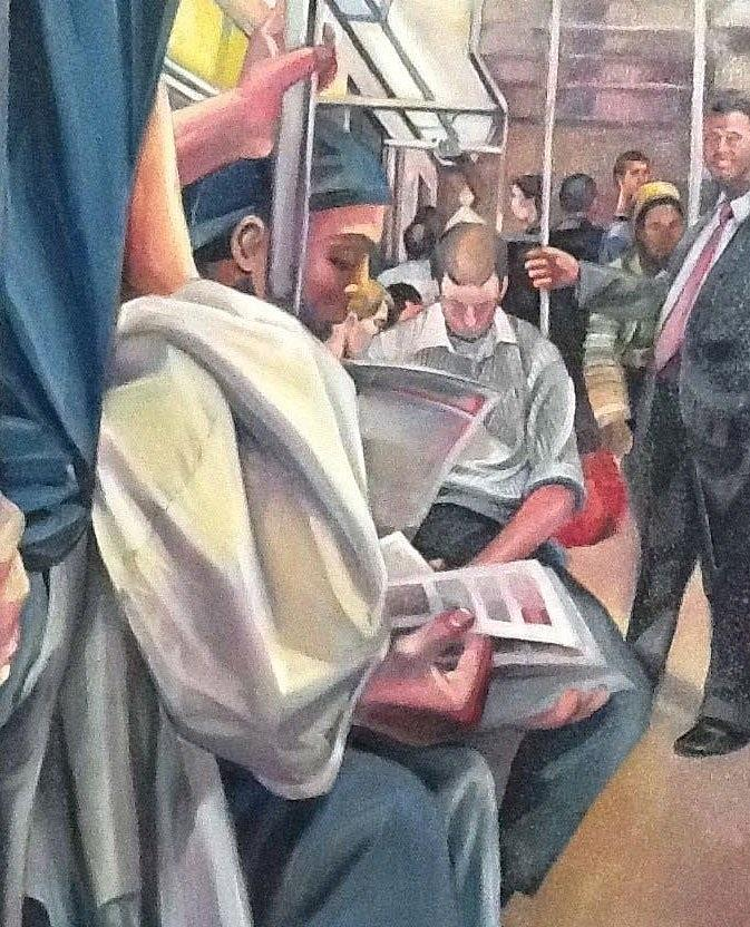 New York Painting - Subway Prelude by Julie Orsini Shakher