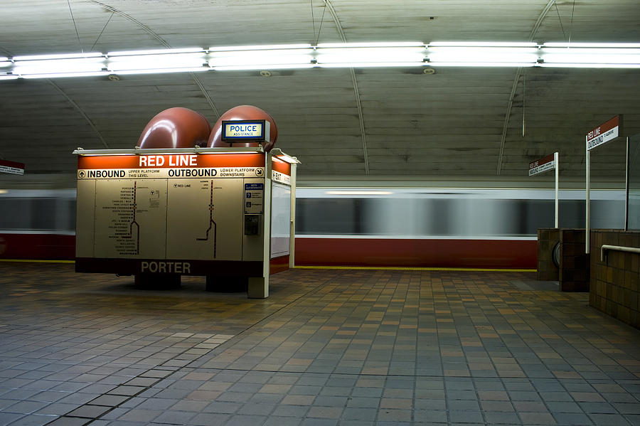 Subway station and train Photograph by Caitlin_w