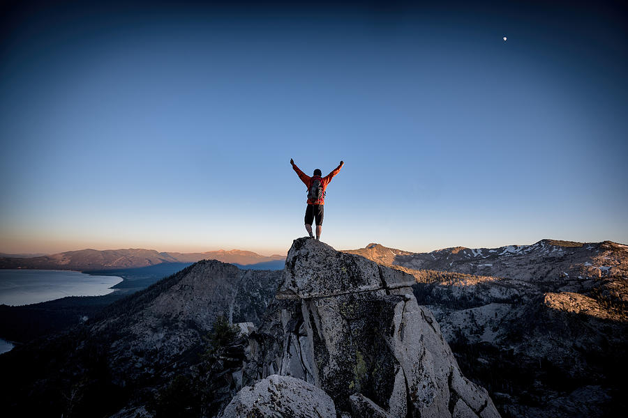 Success and Victory in the mountains Photograph by Vernonwiley