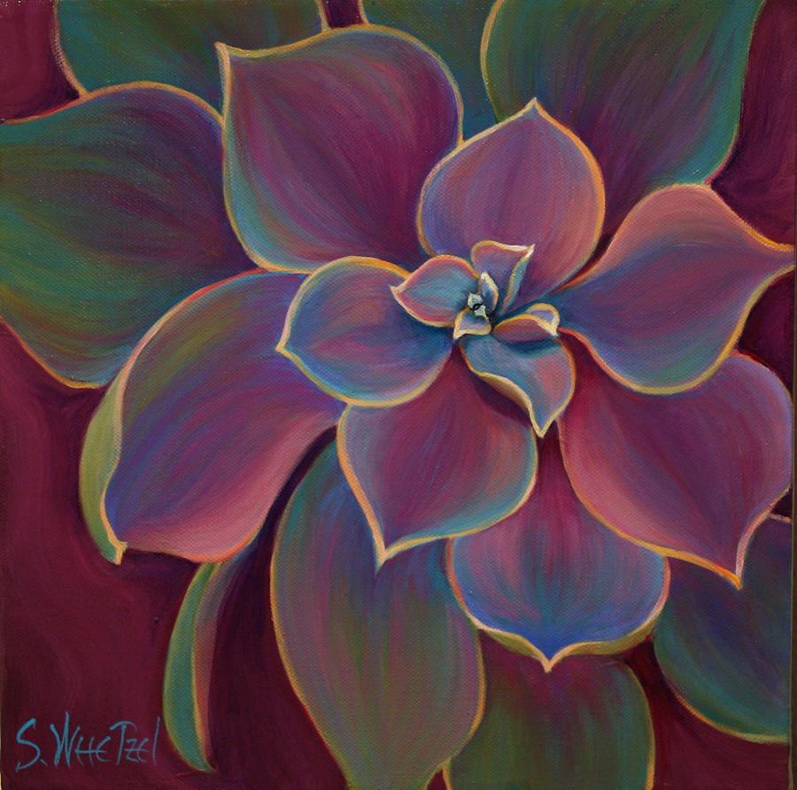 Succulent Painting - Succulent Delicacy by Sandi Whetzel