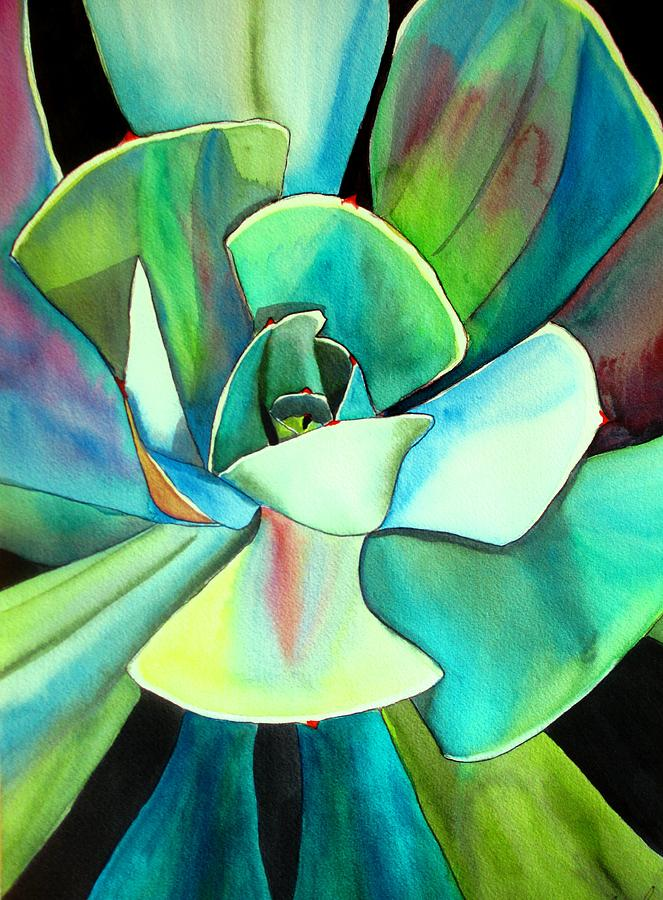 Succulent Painting - Succulent by Sacha Grossel