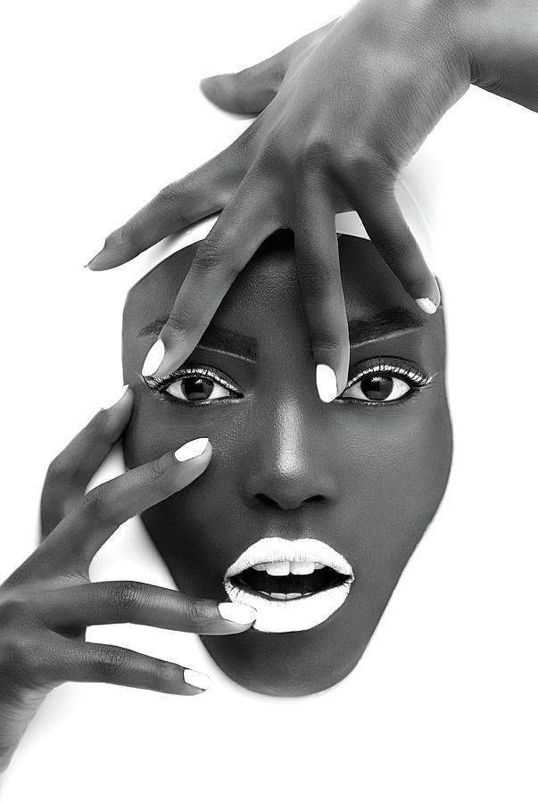 Face Photograph - Succulent Silk by Sebastian Wuttke