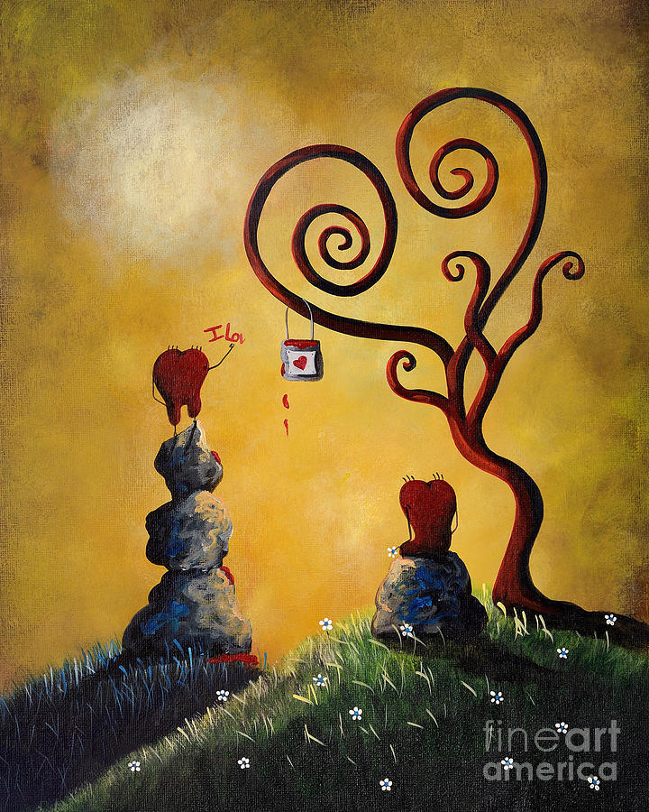 Love Painting - Such A Romantic By Shawna Erback by Erback Art