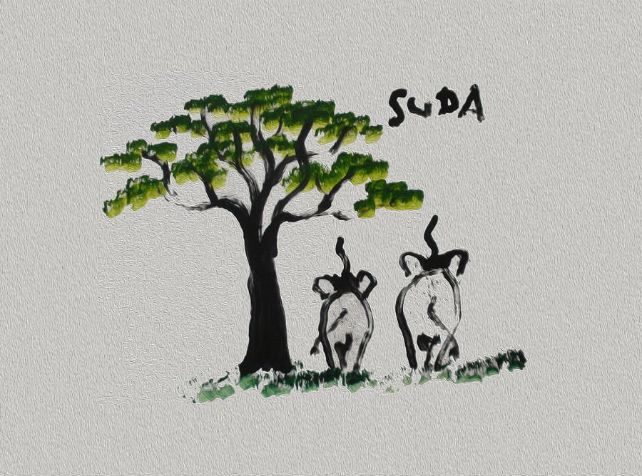 Elephants Painting - Suda Creations  by Thai Elephant Art