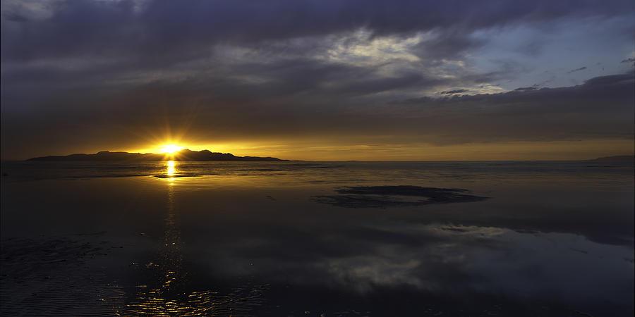 Great Salt Lake Photograph - Sudden Glow by Chad Dutson