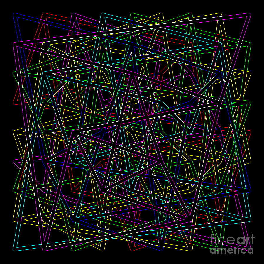 Sudoku Connections Glowing Edges by Ron Brown