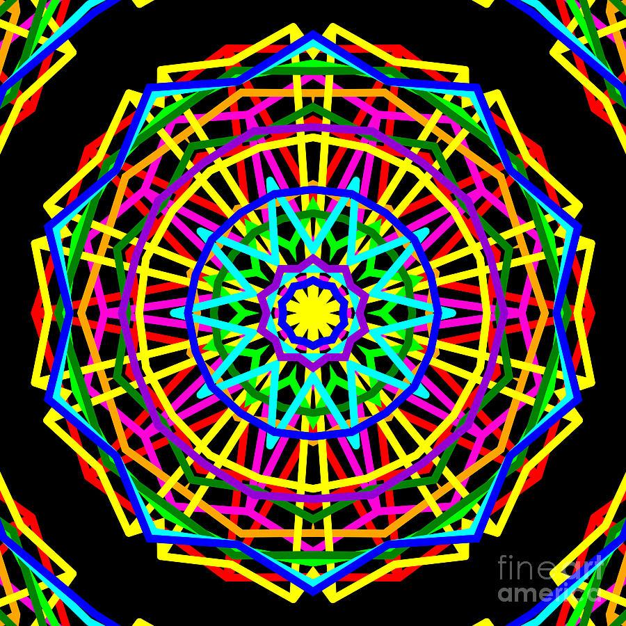 Sudoku Digital Art - Sudoku Connections Kaleidoscope by Ron Brown