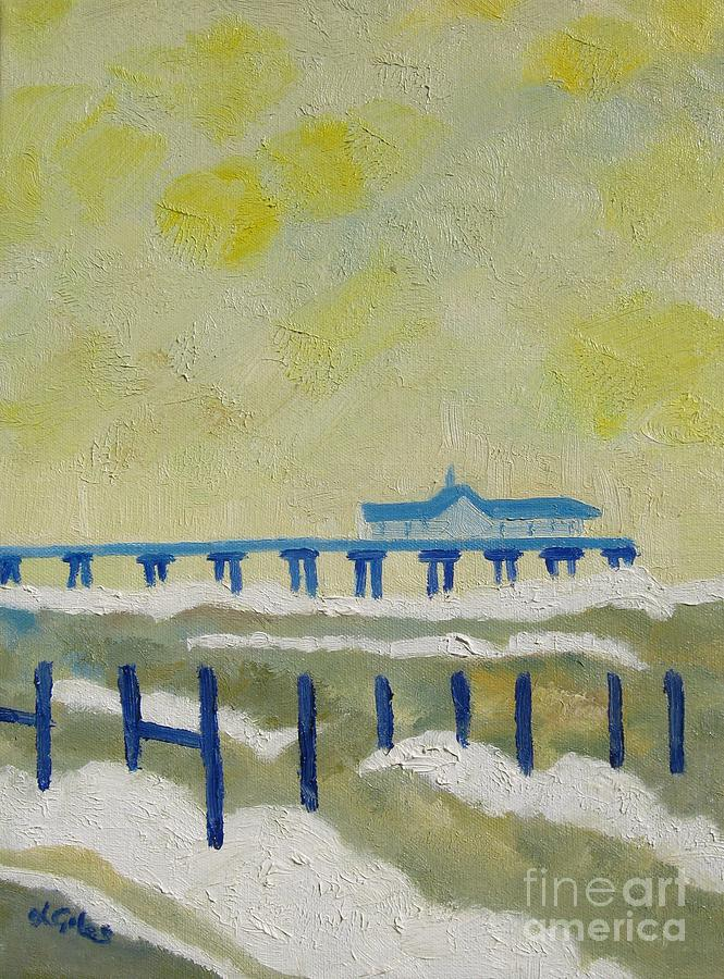 Sea Painting - Suffolk Southwold Pier by Lesley Giles