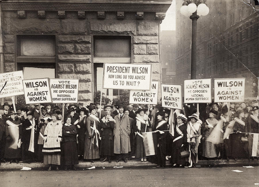 1916 Photograph - Suffrage Protest, 1916 by Granger