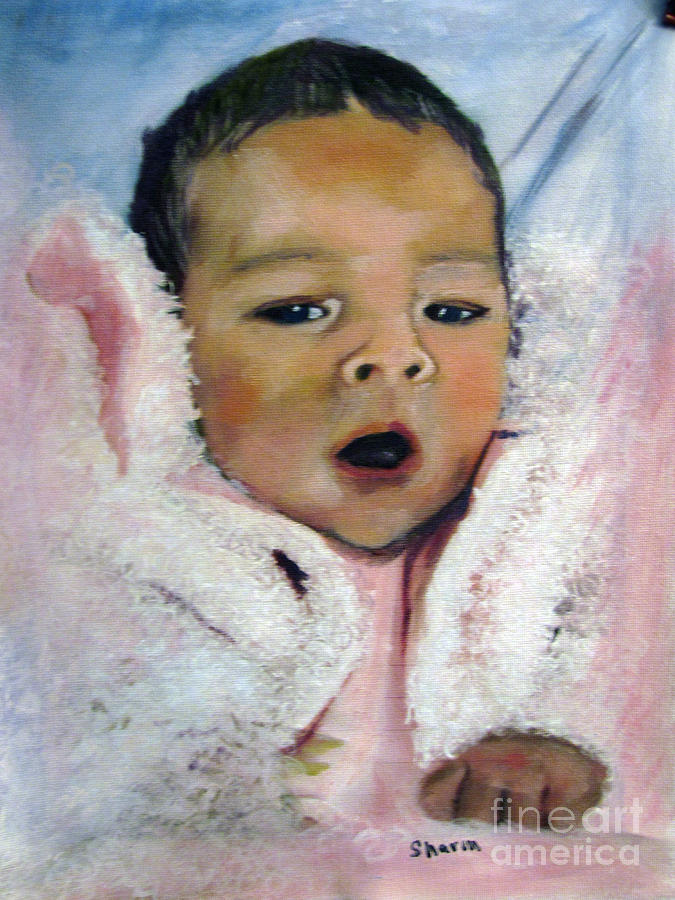 Newborn Painting - Sugar And Spice by Sharon Burger