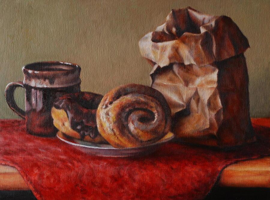 Coffee Painting - Sugar Bomb by Dan Petrov